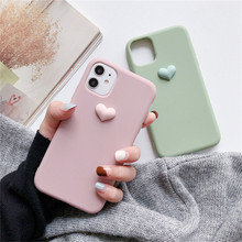 3D Cute candy lovely heart silicone phone case for iphone 11 Pro Max X XR XS MAX 6S 7 8 Plus cover for samsung S8 S9 S10 Note