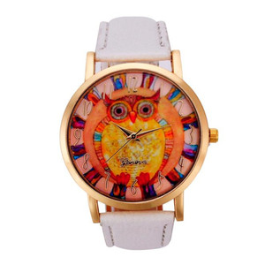 Fahion Women Watches Owl Patte