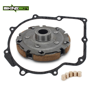 BIKINGBOY Clutch Pad Carrier + Brass Slugs + Gasket For Yamaha Grizzly 660 2002 2003 2004 2005 2006 2007 2008 Rhino 660 04-07