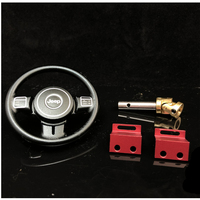 Metal Steering Wheel Kits With Servo Mount For 1/8 Rc Crawler Toy Car CAPO JKMAX Wrangle Parts Accessories CD15827