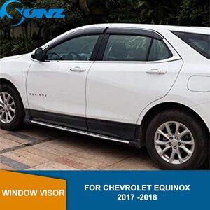 Image 1 - Seite Fenster Deflektoren Für Chevrolet EQUINOX 2017 2018 Fenster Visor Vent Shades Sonne Regen Deflektor Schutz SUNZ
