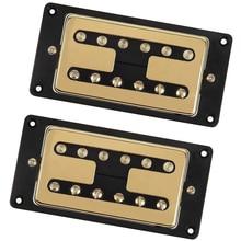 Humbucker Matched Electric Guitar Neck Bridge Pickup Set, Sound Great, Golden Black цена 2017