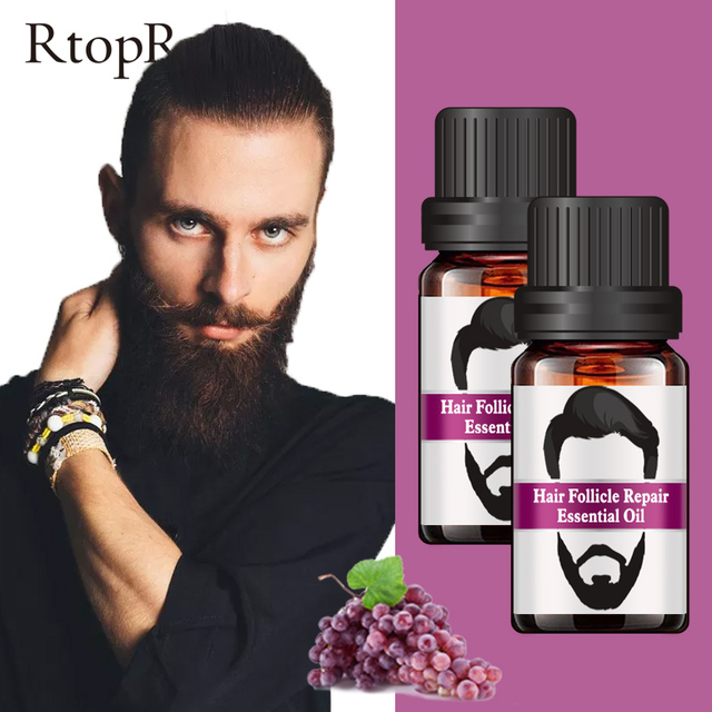 2PCS Hair Follicle Repair Oil Styling Moustache Moisturizing Oil Growth Of Beard Body Hair Eyebrow Care Smoothing Oil 10 ml 1