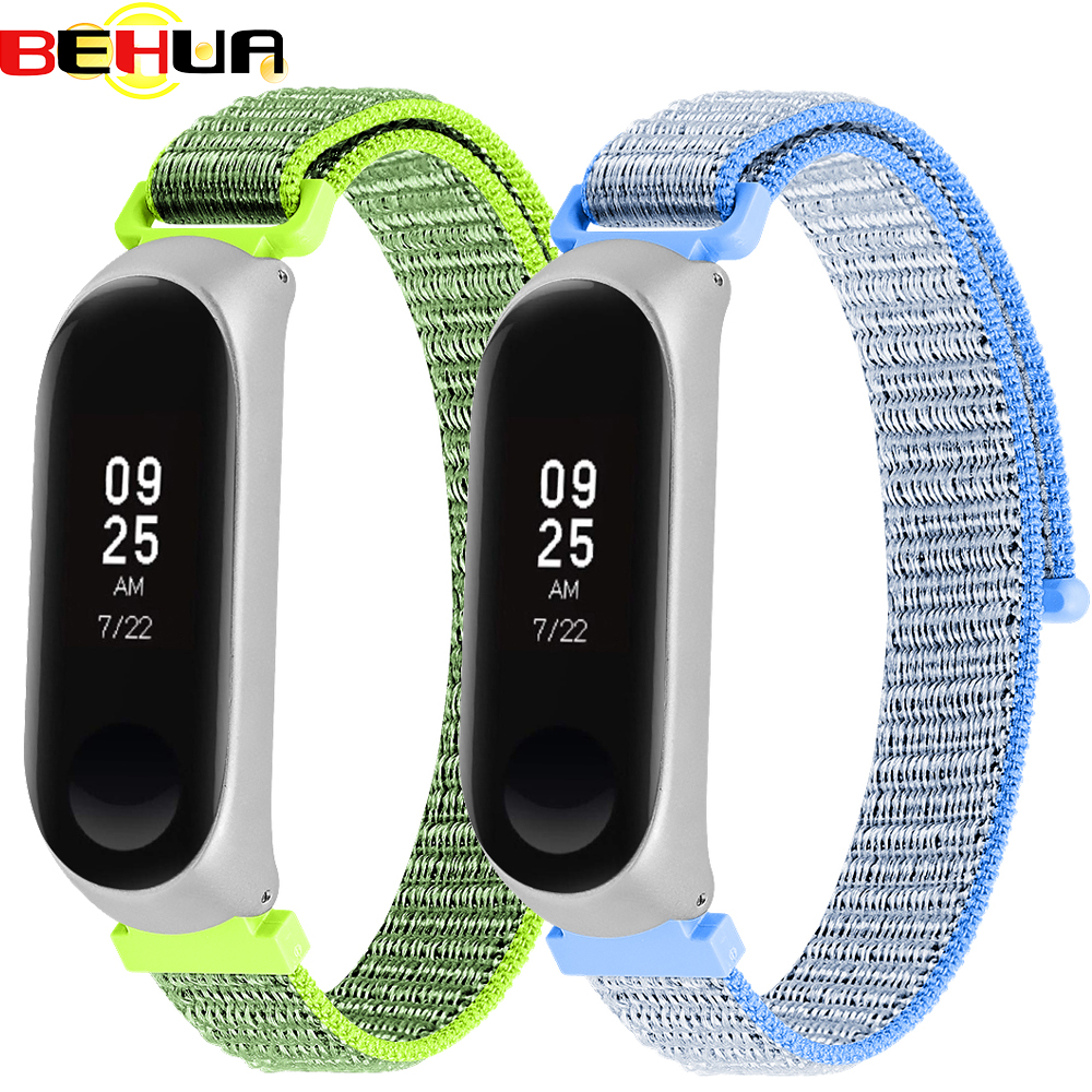Magic Sticker Nylon Adjustable Straps Wrist Band For Xiaomi Mi Band 4 Miband 3 Watchband With Case Replacement Smart Watch Strap