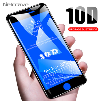 100 Pieces 10D Full Coverage Tempered Glass For Apple iPhone 11 Pro XS Max XR X 8 Plus 7 6 6S SE 5S Cover Screen Protector Film