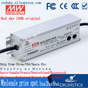 Image 1 - Steady MEAN WELL HLG 60H 36A 36V 1.7A meanwell HLG 60H 61.2W Single Output LED Driver Power Supply A type