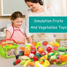 Baby kids toys 6PCS Simulation fruit and vegetable toys Cutting Fruit Vegetable Food Pretend Play Children Kid Educational Toy cheap CN(Origin) 2-4 Years Occupations