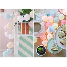 цены 3m 20head Led Cotton Ball Light String Holiday Decoration Small  String Lights Home Garden Fairy Lamp Wedding Party Decor