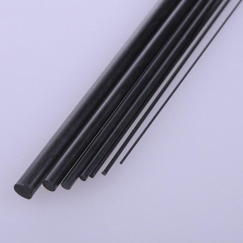 5 stücke Durchmesser 1mm/1,5mm/2mm/2,5mm/3mm/4mm /5mm/6mm/8mm Carbon Fiber Feste Stange Runde Bar Welle für RC Flugzeug Modell 200mm Länge