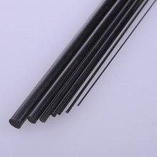Tige ronde solide en Fiber de carbone pour modèle d'avion RC, 5 pièces, diamètre 1mm/1.5mm/2mm/2.5mm/3mm/4mm/5mm/6mm/8mm longueur 200mm