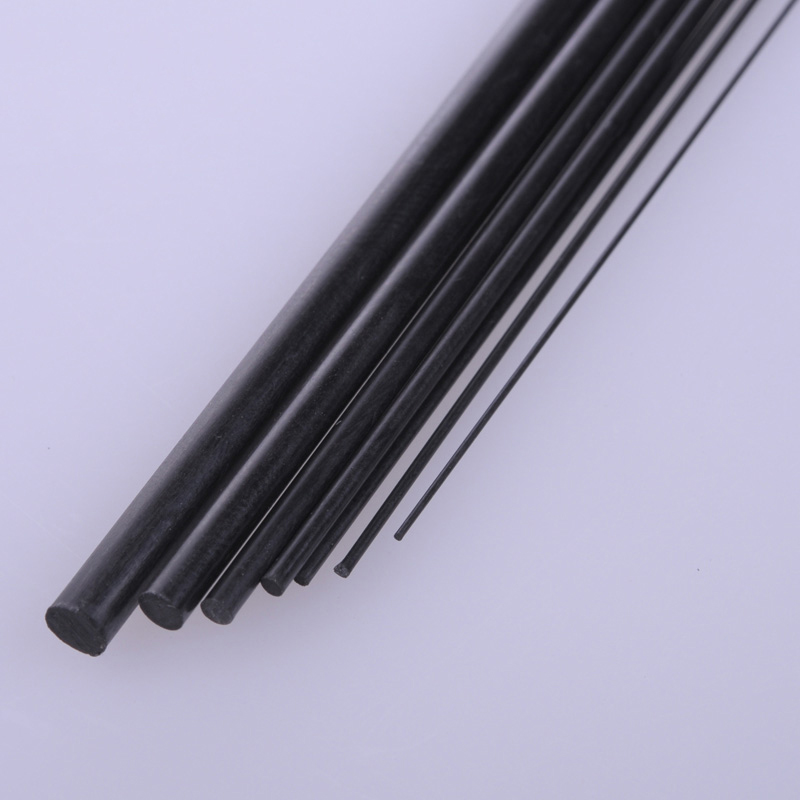 5pcs Diameter 1mm/1.5mm/2mm/2.5mm/3mm/4mm/5mm/6mm/8mm Carbon Fiber Solid Rod Round Bar Shaft for RC Airplane Model 200mm Length image