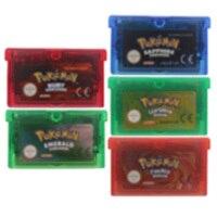 Cartucho de 32 bits para consola Nintendo GBA, tarjeta de videojuegos, serie Poke ENG/FRA/GRE/ESP/ITA, versión EU/US