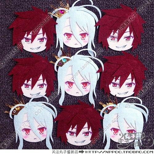 Anime NO GAME NO LIFE Kuhaku Shiro Cosplay Badge Nonwoven Fabric Button Brooch Pin Bedge Gifts