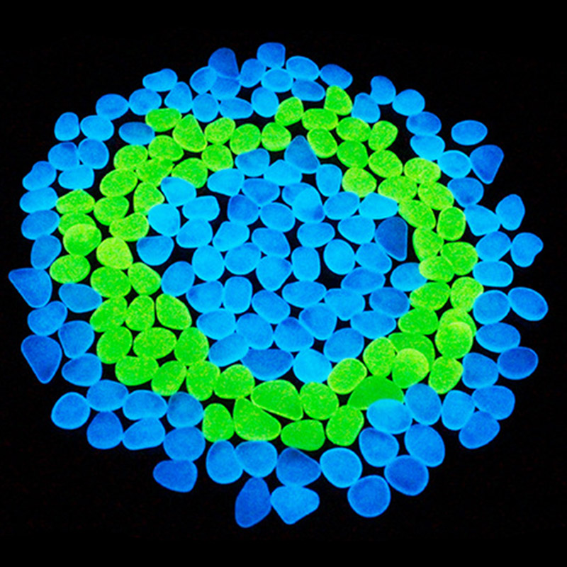 100 шт. светится в темноте галечные камни светящиеся аквариум сад декор для аквариума