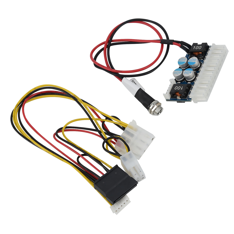 12V DC-ATX-160W 24Pin Switch Car Auto Mini ITX Z1 Upgrade DC to DC Power Supply for MINI computer network serve power module
