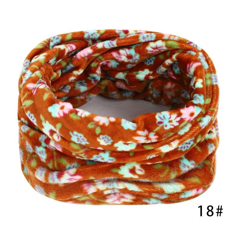 Новинка, осенне-зимний женский шарф с принтом для женщин, модный бархатный тканевый шарф, мягкий удобный женский винтажный шарф - Цвет: 18