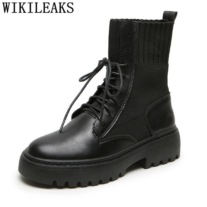 Ankle Boots for Women Ladies Shoes Fashion Snow Boots Women Platform Shoes Leather Boots Women Motorcycle Shoes Plus Size 42 43