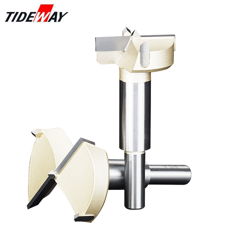 Tideway Drill Bits Round Shank Tungsten Carbide Cutter 12mm-80mm Forstner Tips Woodworking Tools Hole Saw Cutter Hinge Boring