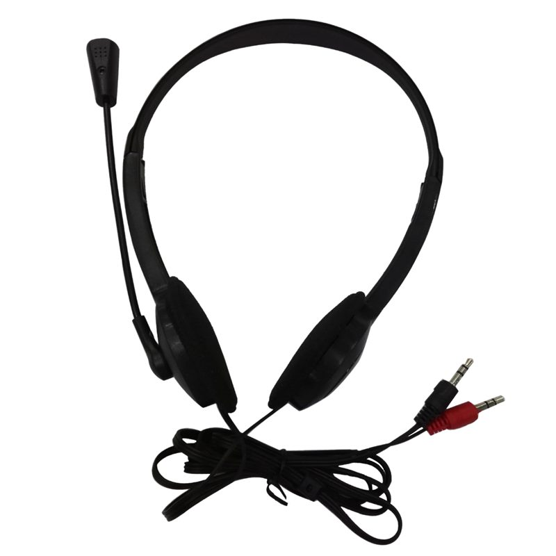 ABKT-3.5mm Stereo Headset Earphone Headphone with Microphone for Laptop