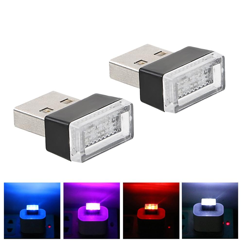 Универсальная автомобильная атмосферная Светодиодная лампа USB для Hyundai Creta ix25 sonata lf Tucson 2016-2019