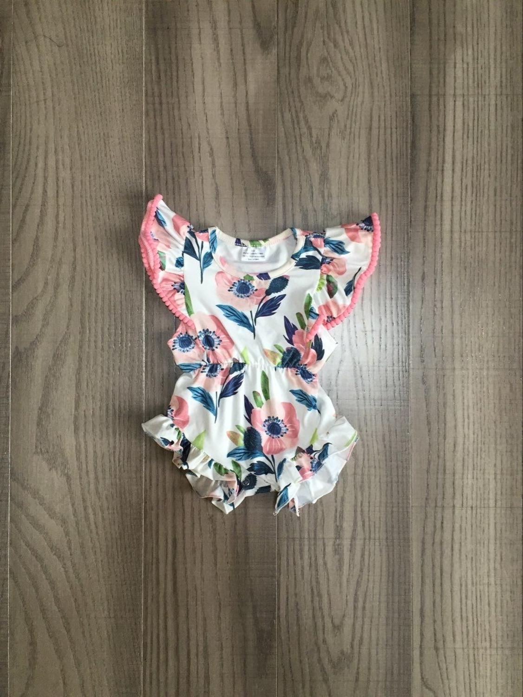 Baby Clothes Baby Girls Floral Romper Infant Bay Summer Romper