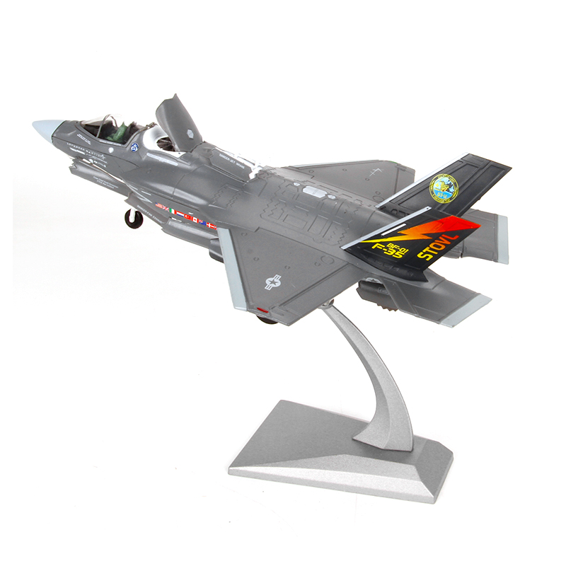 F-35 Lightning II Aircraft Model 1:72 F35B Fighter Jets Diecast Metal Plane Model Airplane Model Toy For Collections