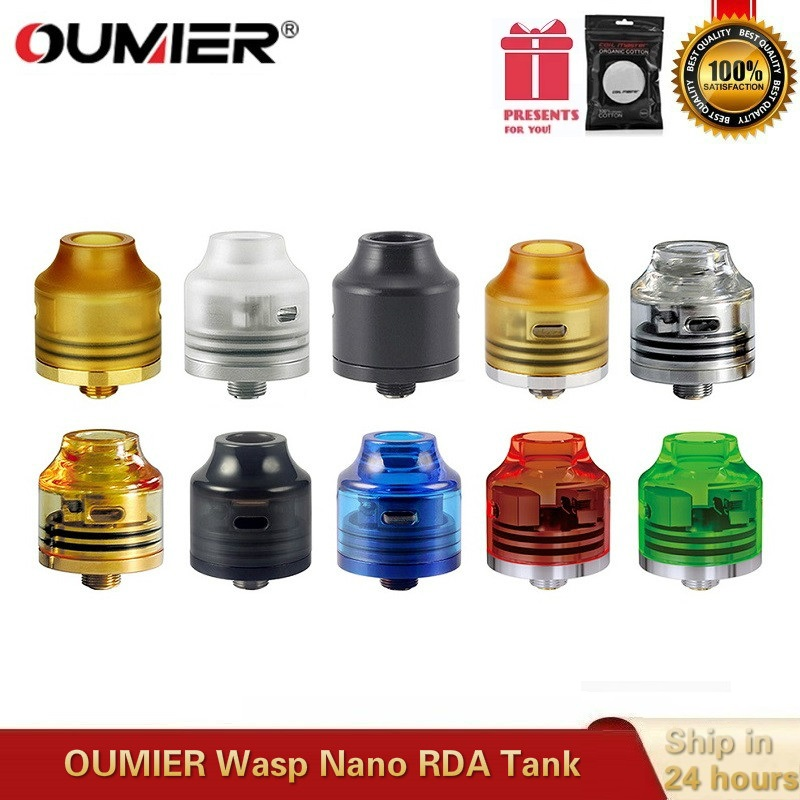 Original OUMIER Wasp Nano RDA 22mm Vape Tank Rebuildable Dripping Atomizer Big Deck Fit 510 Thead Box Mod VS Hellvape Drop Dead