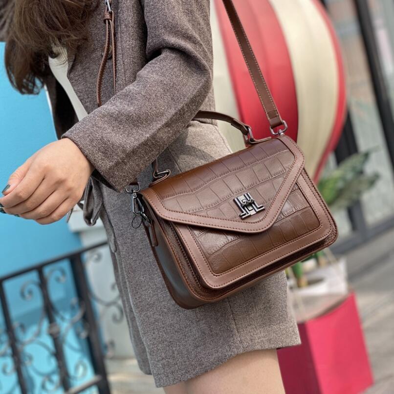 Crocodile Pattern Fashion Women Genuine Leather Handbags Luxury Designer Lady Cowhide Shoulder Messenger Bag Tote Crossbody Bags