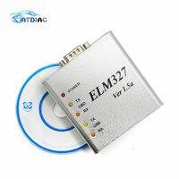 ELM327-USB metálico de aluminio ELM 327, caja de Metal Elm 327, USB V1.5/V1.5a, compatible con todos los protocolos OBD2 OBDII, escáner de diagnóstico de coche automático