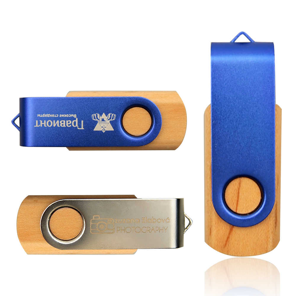 Logo özelleştirilmiş sıcak satış ahşap ve Metal USB 2.0 Flash sürücü öğretmen hediye Pendrive 8 16 32GB 128 MB hafıza belleği kalem sürücü