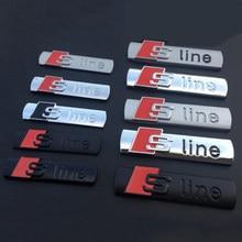 S Linha SLine Emblema Do Emblema Etiqueta Do Logotipo Do Metal Da Liga Do Carro de Corrida para Audi A3 A4 A5 A6 S7 A8 S3 S4 S5 S6 S7 S8 Q3 Q5 Q7