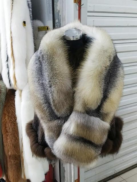 Fox Fur ผ้าพันคอหรูหรา Fox ผิวผ้าพันคอขนสุนัขจิ้งจอกธรรมชาติ Stole ขนสุนัขจิ้งจอกผ้าคลุมไหล่กระเป๋าแฟชั่นชุดผ้าพันคอผู้หญิง