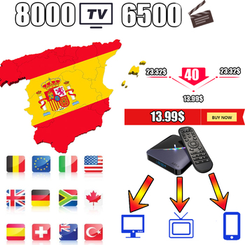 Europe IPTV support android tv box tv box android IPTV m3u spain España nederlands belgium Hot xxx set top box no app included best stable a95x support smart iptv from europe 1 14m services android tv box olny a95 x smart tv set top box hot