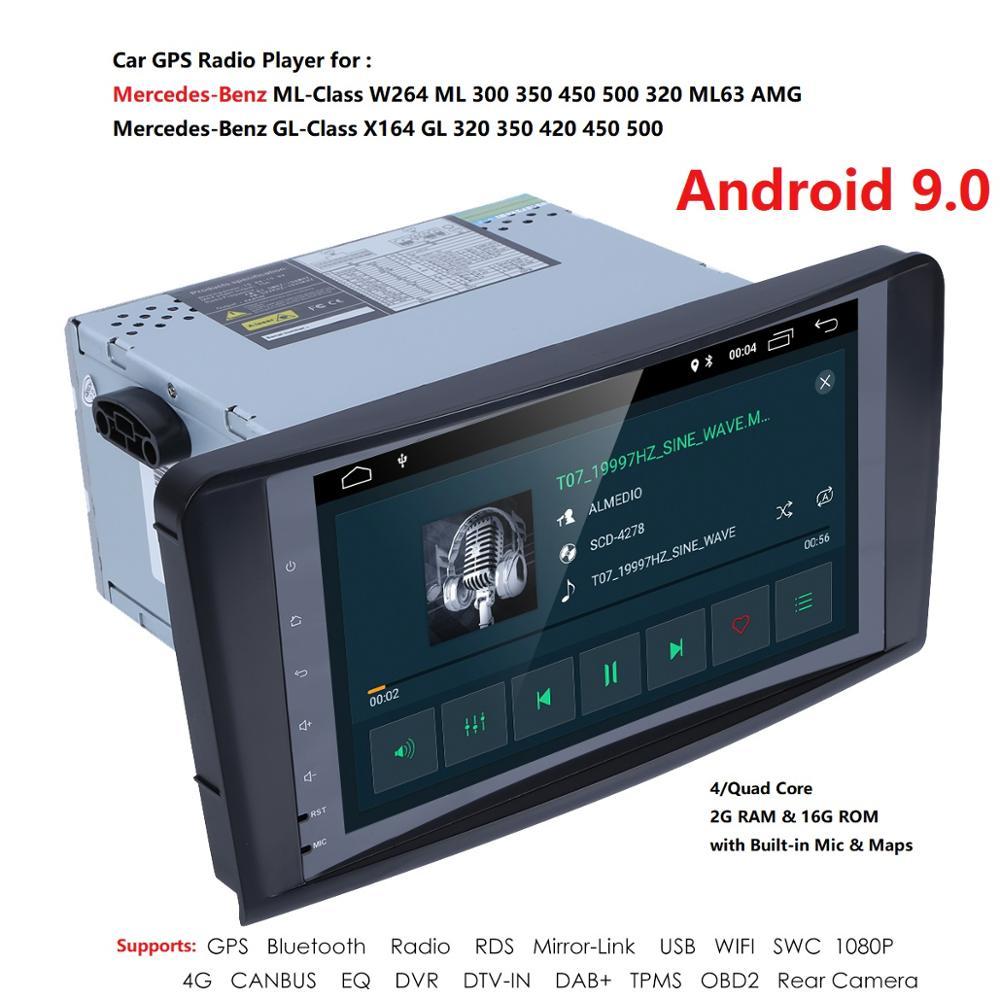 2 Din IPS lecteur radio de voiture pour Mercedes Benz ML classe W164 ML350 ML500 X164 GL320 GL500 GL350 GL450 4G peut bus DTV-IN DAB + TPMS - 5