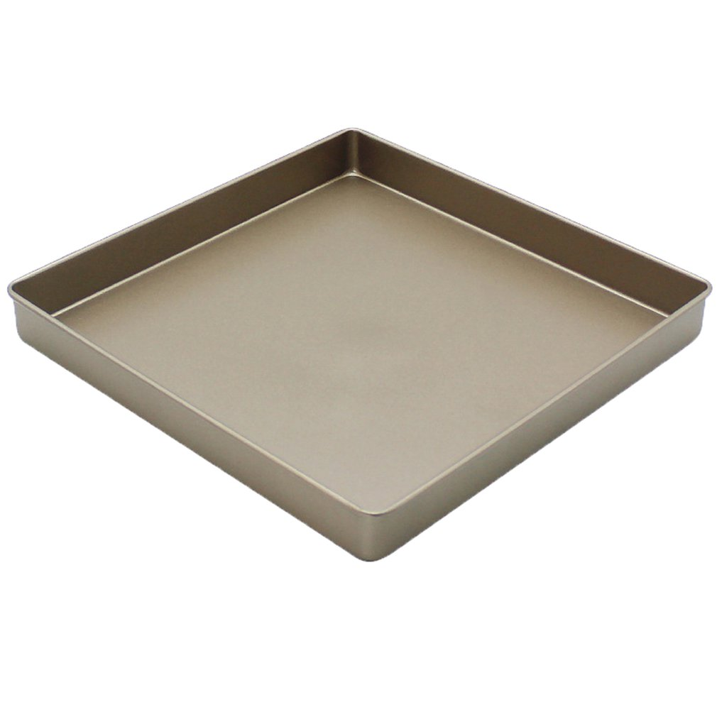 11 Inch Gold Square Non-Stick Cake Baking Tray 28Cm Cookie Dry Nougat Baking Tray Tool Baking Mold