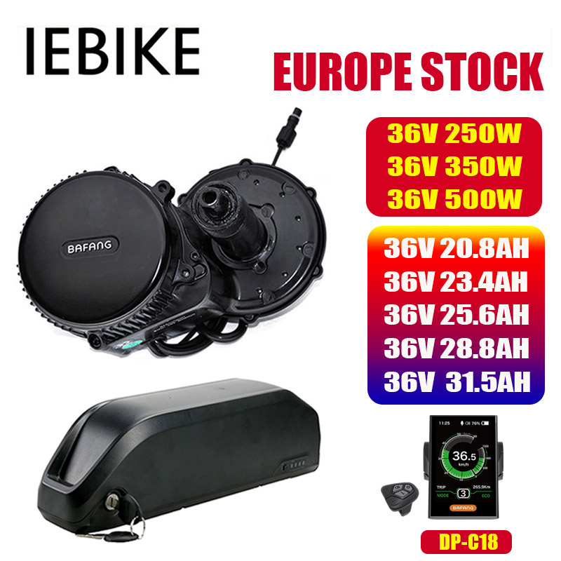 Bafang BBS02 BBS02B BBS01B 36V 250/350/500w Mid Drive Motor Kit with Battery 36V20/28.8/31.5AH Ebike Conversion Kit 8fun Battery|Electric Bicycle Motor| |  - title=