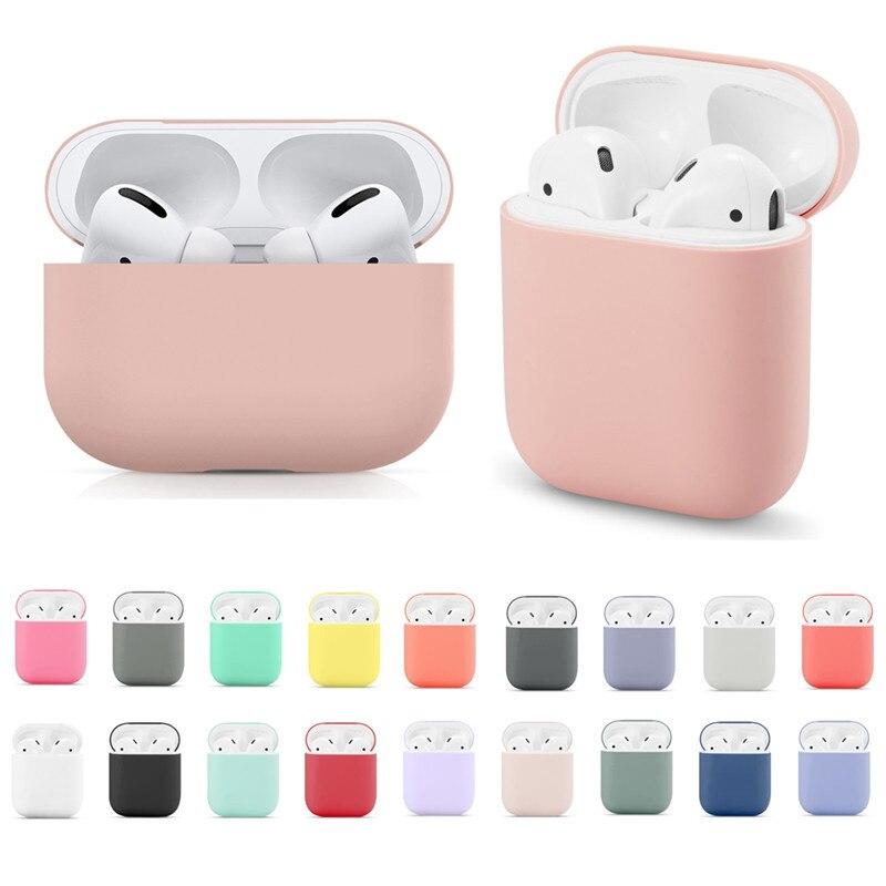 Housse en Silicone pour Airpods 2/1 coque pour écouteurs protection souple fundas airpods pro coque Air pods couvre earpods étui apple Airpod |