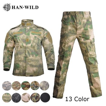 Trajes de camuflaje HAN WILD Uniforme Militar Multicam, Ropa de caza, Ropa táctica de fuerza especial, uniformes de Ropa, trajes de combate Ghillie