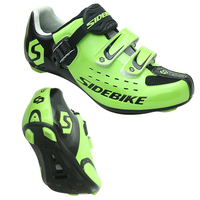 Green Cycling Shoes Men Pro Team Mountain Road Bike Shoes Breathable Bicycle Shoes MTB Self-locking Cycling Bike Shoes Sneaker