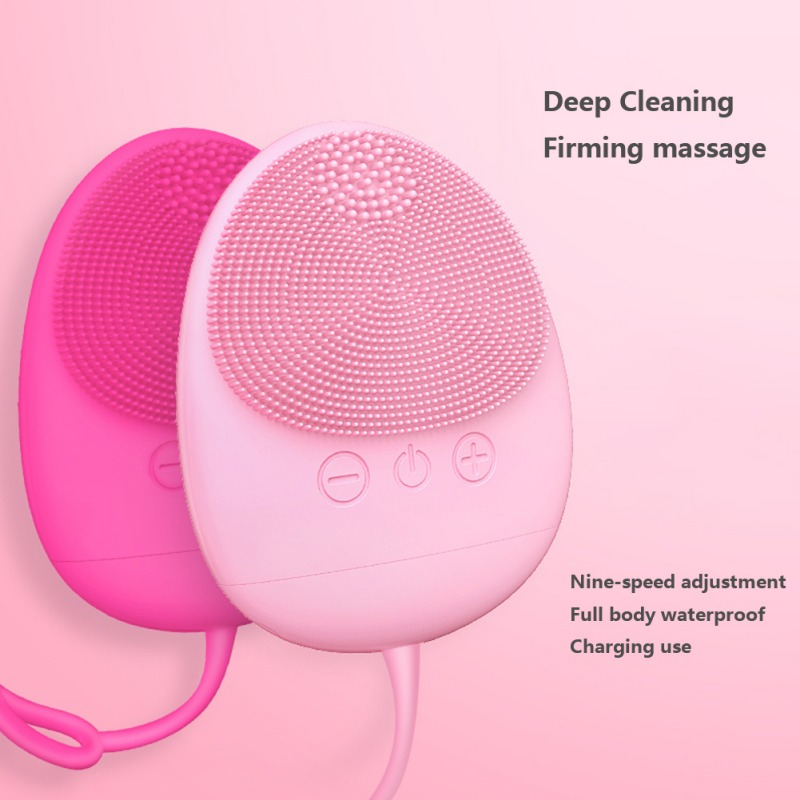 Silicone Electric Cleansing Instrument Cleaning Shrinking Pores Facial Cleansing Brush Facial Wash Massag Tools