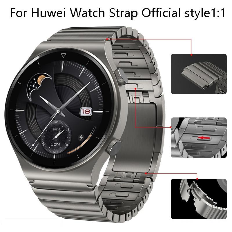Ремешок из нержавеющей стали для часов Huawei Watch GT2 Pro, металлический браслет для часов Porsche /ECG/GT2 46 мм/GT2E, honor Magic 2 46 мм, 22 мм
