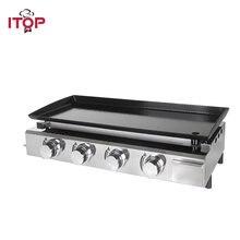 Itop 4 конфорки Газовая планча барбекю грили Инструменты для