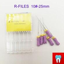 6 шт. 10#25 мм зубные ПроТейпер R файлы корневого канала стоматолога материалы Стоматологические инструменты ручного использования из нержавеющей стали R файлы