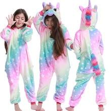 Unicorn Pajama Kids Onesie Licorne Kigurumi Winter Panda Stitch Spider Pijama Boy Girl Baby Sleepwear Meisje Cosplay Pyjama Sets