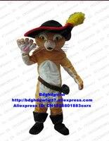 Puss Die Stiefel Katze Maskottchen Kostüm Erwachsene Cartoon Charakter Outfit Anzug Kindergarten Pet Shop Film Requisiten CX4033 Freies Verschiffen