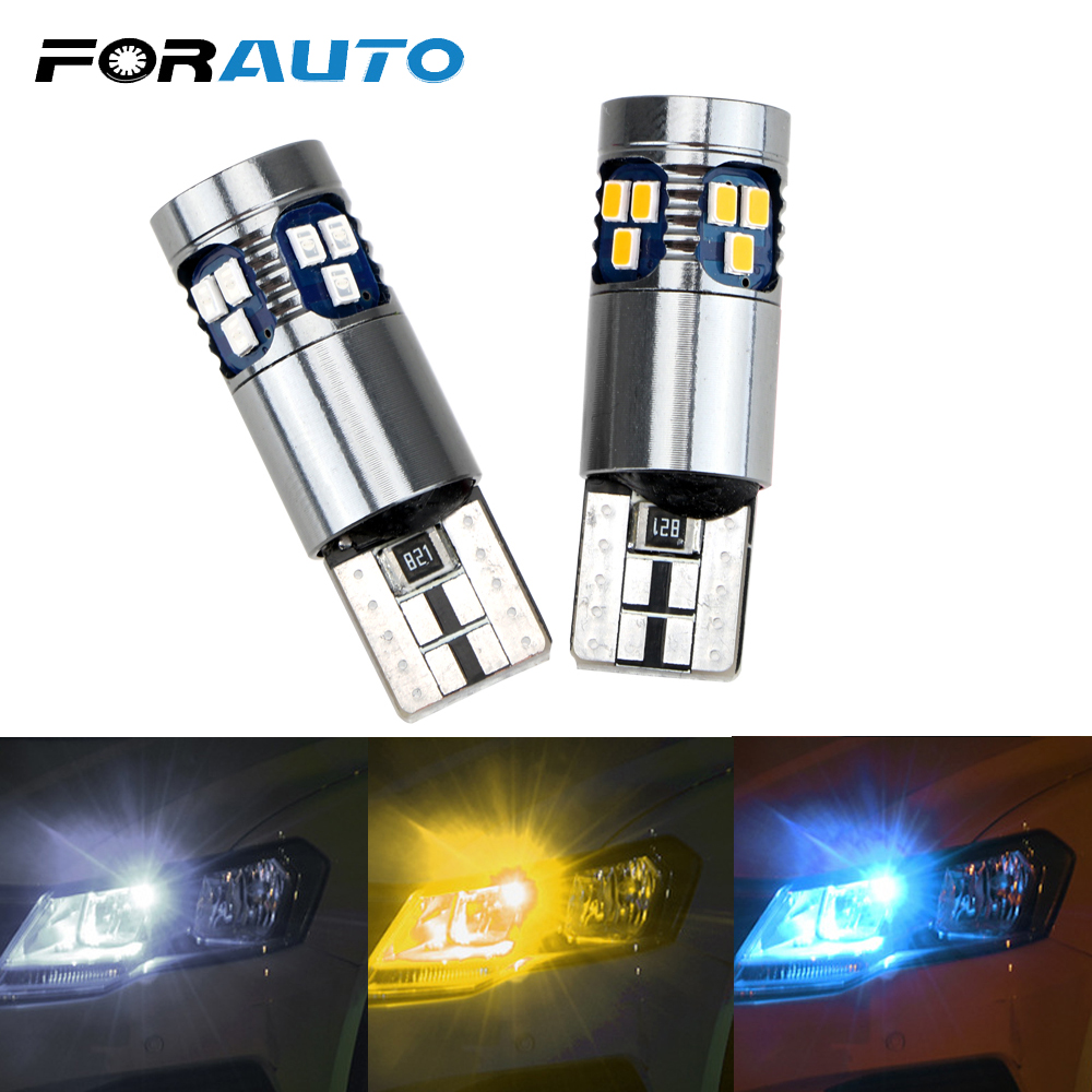 FORAUTO T10 W5W 3030 <font><b>18</b></font> SMD Car Reading Light Marker Lamp Super Bright Interior Indicator Light Auto Wedge Parking <font><b>Bulbs</b></font> image