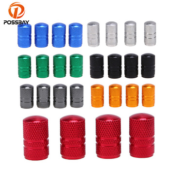 POSSBAY Universal Aluminum Car-stying Car Wheel Tire Valves Tyre Stem Air Caps Cover Case for Opel Ford VW Citren BMW Toyota image