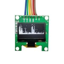 جهاز عرض الطيف الموسيقي OLED الصغير بشاشة 0.96 بوصة جهاز MP3 مؤشر مستوى الصوت مؤشر إيقاع الموسيقى محلل VU METER