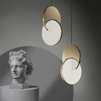 2021 moderne LED Anhänger Lampe in Chrom/Gold Für Schlafzimmer Kunst Decor Hängen Lichter Freies Verschiffen Winfordo Beleuchtung