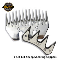 1 conjunto 13 t máquina de corte de ovelhas tosquiadeira cortador de ovelhas parte substituição sheep clippers lâmina corte sheep shearing clippers